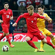 Turkey's Serdar Aziz (F) during their UEFA Euro 2016 qualification Group A soccer match Turkey betwen Kazakhstan at AliSamiYen Arena in Istanbul November 16, 2014. Photo by Kurtulus YILMAZ/TURKPIX