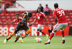 Matty Cash of Nottingham Forest (L) and Mohamed Diame of Hull City in action - Mandatory by-line: Jack Phillips/JMP - 30/07/2016 - FOOTBALL - The City Ground - Nottingham, England - Nottingham Forest v Hull City - Pre-Season Friendly