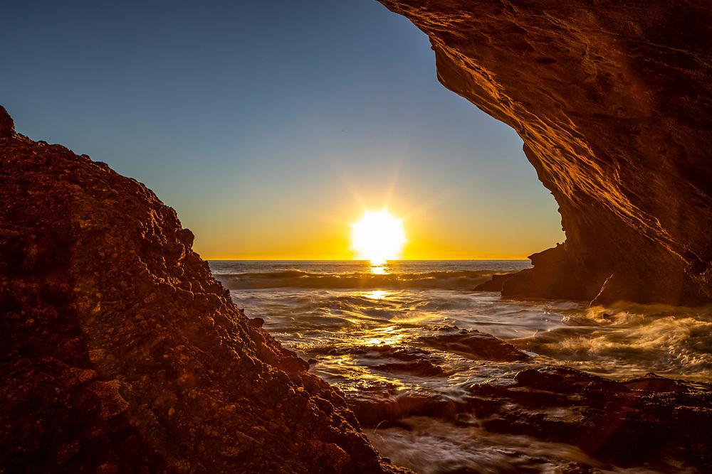 Natural Cave at Thousand Steps Beach in Laguna Beach, Southern California. ©justinalexanderbartels.com