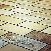 A detail of a stone brick road/path in Zadar, Croatia.