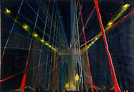 NYC in Colors.  Horn/Andersen<br /> Lights over Brooklyn Bridge 1	    45x65	Kr.     3.000,-<br /> Foto: © Lars Horn / Baghuset<br /> Date : 15.07.13