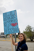 Big Blue March for the Whales, Anchorage, Alaska, 27th May 2007, during the International Whaling Commission Meeting