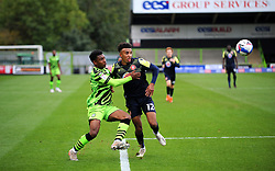 Jayden Richardson of Forest Green Rovers competes with Remeao Hutton of Stevenage- Mandatory by-line: Nizaam Jones/JMP - 17/10/2020 - FOOTBALL - innocent New Lawn Stadium - Nailsworth, England - Forest Green Rovers v Stevenage - Sky Bet League Two