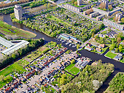 Nederland, Noord-Holland, Zaanstad, 07-05-2021; Kerkstraat Oostzaan, wijk Poelenburg Zaandam.<br /> <br /> luchtfoto (toeslag op standaard tarieven);<br /> aerial photo (additional fee required)<br /> copyright © 2021 foto/photo Siebe Swart.
