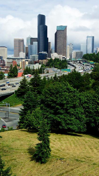 Downtown Seattle Skyline - Vertical