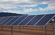 Solar panels providing energy for college campus.