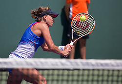 March 22, 2018 - Miami, Florida, United States - Barbora Strycova, from the Czech Republic, in action against Christina Mchale of the US  during his first round macth at the Miami Open  on March 23, 2018 in Key Biscayne, Florida. (Credit Image: © Manuel Mazzanti/NurPhoto via ZUMA Press)