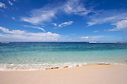 The view from a deserted tropical beach on Savaii, Western Samoa.
