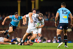 March 23, 2019 - Sydney, NSW, U.S. - SYDNEY, NSW - MARCH 23: Crusaders player Harrison Allan (1) tries to break the tackle at round 6 of Super Rugby between NSW Waratahs and Crusaders on March 23, 2019 at The Sydney Cricket Ground, NSW. (Photo by Speed Media/Icon Sportswire) (Credit Image: © Speed Media/Icon SMI via ZUMA Press)