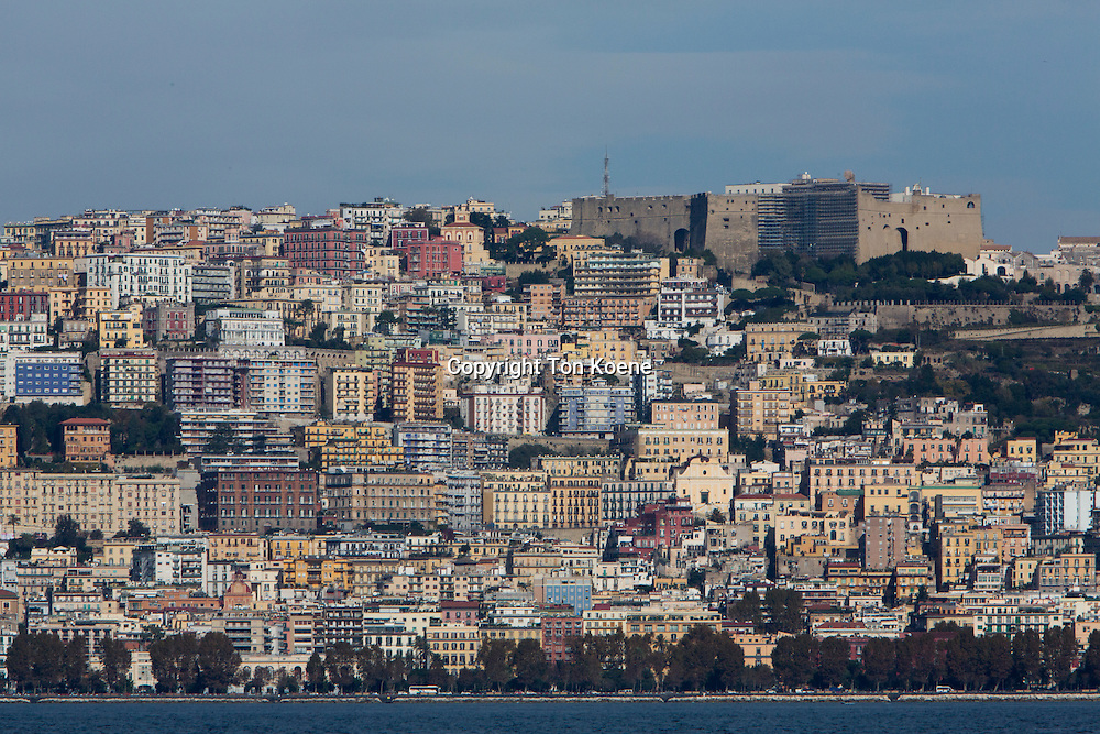 view on naples from the sea side