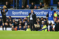 Everton Manager Sam Allardyce (c) looks on from his technical area. Premier league match, Everton v Leicester City at Goodison Park in Liverpool, Merseyside on Wednesday 31st January 2018.<br /> pic by Chris Stading, Andrew Orchard sports photography.