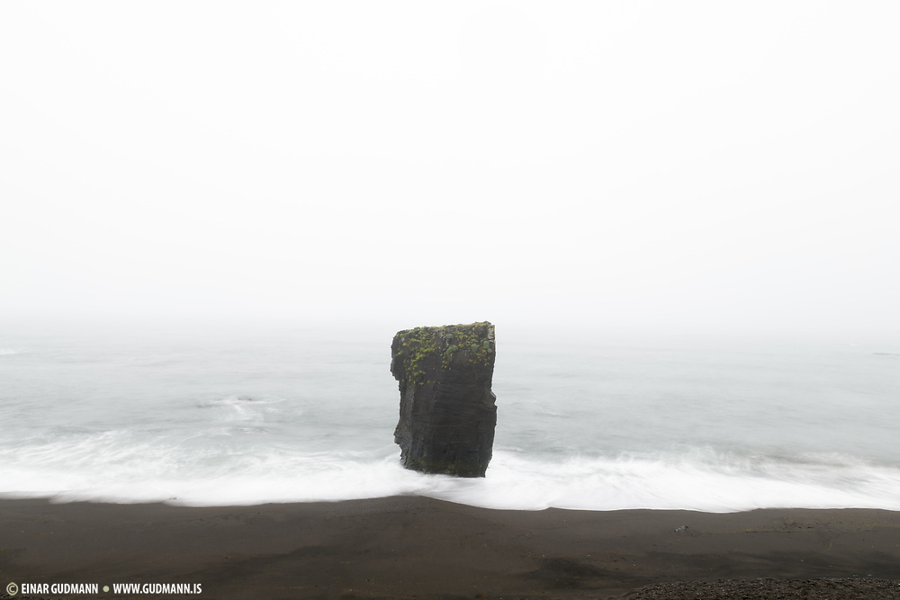is a rock formation at the coast in Stapavik which is a small bay ein East-Iceland.