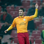 Galatasaray's Albert Riera Ortega during their Turkish Super League soccer match Galatasaray between IBBSpor at the TT Arena at Seyrantepe in Istanbul Turkey on Tuesday, 03 January 2012. Photo by TURKPIX