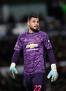 Sergio Romero of Manchester United during the FA Cup match at the Pride Park Stadium, Derby. Picture date: 5th March 2020. Picture credit should read: Darren Staples/Sportimage