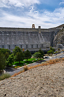 Grand Coulee Dam Panorama. Six of seven images taken with a Nikon D300 camera and 18-200 mm VR lens (ISO 200, 18 mm, f/11, 1/500 sec). Raw images processed with Capture One Pro, Photoshop and CC, NIK Color Efex. Panorama created using AutoPano Pro.