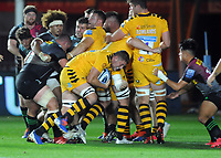 Rugby Union - 2019/ 2020 Gallagher Premiership - Harlequins vs Wasps<br /> <br /> Tom Willis of Wasps pushes over for his 1st half try , at the Twickenham Stoop.<br /> <br /> COLORSPORT/ANDREW COWIE