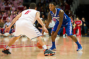 DALLAS, TX - FEBRUARY 01: Joe Jackson #1 of the Memphis Tigers brings the ball up court against Nic Moore #11 of the Nic Moore on February 1, 2014 at Moody Coliseum in Dallas, Texas.  (Photo by Cooper Neill/Getty Images) *** Local Caption *** Joe Jackson