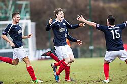 Falkirk's Blair Alston celebrates after scoring their second goal..Hamilton 1 v 2 Falkirk, Scottish Cup quarter-final, Saturday, 2nd March 2013..©Michael Schofield.
