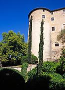 Part of the city walls of Girona, Catalonia, Spain