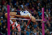 Mcc0041438 . Daily Telegraph..DT Sport..2012 Olympics..Team GB's Robert Grabarz who won a joint  Bronze medal in the High Jump finals ...7 August 2012....