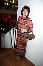 MIRIAM STOPPARD at the Linley Christmas party at their store at 60 Pimlico Road, London on 19th November 2008.