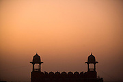 The arch above the road to Gaita at sunset, Jaipur, India