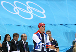 Robbie Renwick of Great Britain  during the Men's 200m Freestyle final held at the aquatics centre at Olympic Park  in London as part of the London 2012 Olympics on the 30th July 2012.Photo by Ron Gaunt/SPORTZPICS