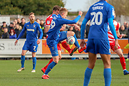 AFC Wimbledon striker Joe Pigott (39) battles for possession during the EFL Sky Bet League 1 match between AFC Wimbledon and Doncaster Rovers at the Cherry Red Records Stadium, Kingston, England on 9 March 2019.