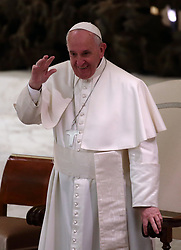 March 29,  2019  - Vatican City, Holy See - POPE FRANCIS during the audience to the participants at ''Corso del Foro Interno'' promoted by the apostolic penitentiary court, in Aula Paolo VI at the Vatican. (Credit Image: © Evandro Inetti/ZUMA Wire)