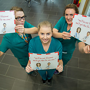 04.10. 2017.                   <br /> HEALTHCARE staff across the MidWest are taking part in a major vaccination programme to protect patients from flu this winter.<br />  <br /> UL Hospitals Group and HSE Mid West Community Healthcare this Wednesday joined forces to launch a flu campaign aimed at vaccinating thousands of healthcare workers in community, primary, mental health and acute hospital settings across Limerick, Clare and Tipperary. A national target of 40% uptake rate has been set by the HSE.<br /> <br /> Pictured at the launch were, Cathy Gahan, 2D, Patrice Walsh, 2D and Maria Clifford, 2D.<br />  <br /> The HSE will next Monday, October 9th, launch its national flu campaign, with at-risk groups – including the over-65s; people with long-term chronic illnesses; pregnant women and residents of nursing homes and other longstay facilities – encouraged to get the vaccine from their family doctor or pharmacist. Picture: Alan Place