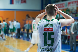 Gregor Hrovat of KK Union Olimpija during basketball match between KK Krka and KK Union Olimpija Ljubljana in Final of Slovenian Spar Cup 2016/17, on February 19, 2017 in Sports hall Domzale, Slovenia. Photo by Martin Metelko / Sportida during basketball match between KK Krka and KK Union Olimpija Ljubljana in Final of Slovenian Spar Cup 2016/17, on February 19, 2017 in Sports hall Domzale, Slovenia. Photo by Martin Metelko / Sportida