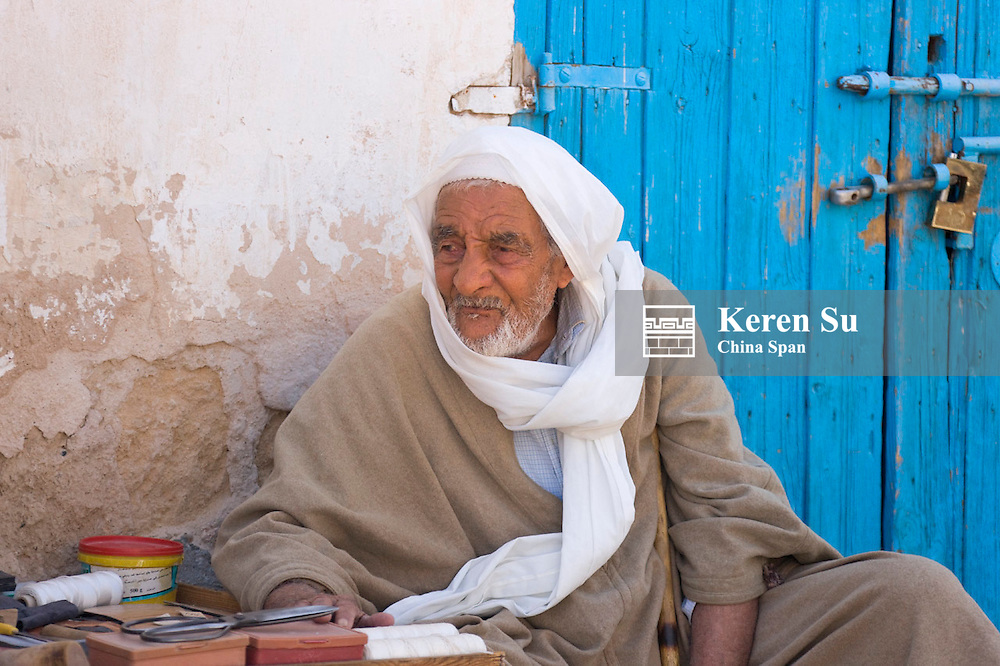 Berber man at the market,  Douz, Tunisia