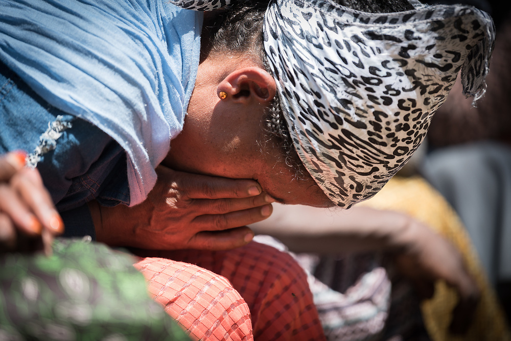 31 January 2019, Southern Nations, Nationalities, and Peoples' Region, Ethiopia: Alamizu Abose leans down for a moment of prayer. She is currently chairing the Tesfa ('hope') self-help group in Hadiya. Through the Mekane Yesus Food Security Project for Lemo Community, the Ethiopian Evangelical Church Mekane Yesus' development wing Development and Social Services Commission helps women raise their socio-economic status through community banking efforts and education, and helps improve communities' food security through training in agricultural methods suitable in a changing climate.