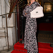 Meg Mathews attend Travel bag brand hosts the launch of its exclusive luxury collection of handbags in collaboration with model and designer Anastasiia Masiutkina  D'Ambrosio on 26 March 2019, Caviar House & Prunier 161 Piccadilly, London, UK.