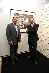 Left to right, Fench rugby captain RAPHAEL IBANEZ and JEAN-CHRISTOPHE BABIN at the TAG Heuer British Formula 1 Party at the Mall Galleries, London on 15th September 2008.