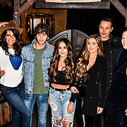 Jenny Powell, Eyal Booker ,Courtney Green, Georgia Steel and Bobby Norris attend Celebs On The Ranch photocall at Jerusalem Bar & Kitchen, on 1st April 2019, London, UK.