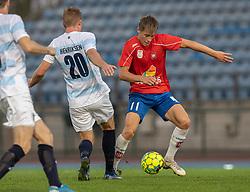 Marcus Lindberg (Hvidovre IF) under kampen i 1. Division mellem Hvidovre IF og FC Helsingør den 15. september 2020 på Pro Ventilation Arena, Hvidovre Stadion (Foto: Claus Birch).