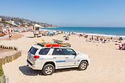 Marine Safety Lifeguard Truck on the Beach