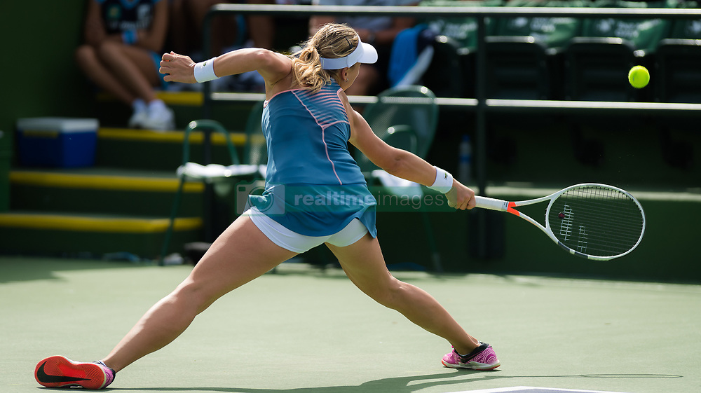 March 9, 2019 - Indian Wells, USA - Anett Kontaveit of Estonia in action during her second-round match at the 2019 BNP Paribas Open WTA Premier Mandatory tennis tournament (Credit Image: © AFP7 via ZUMA Wire)