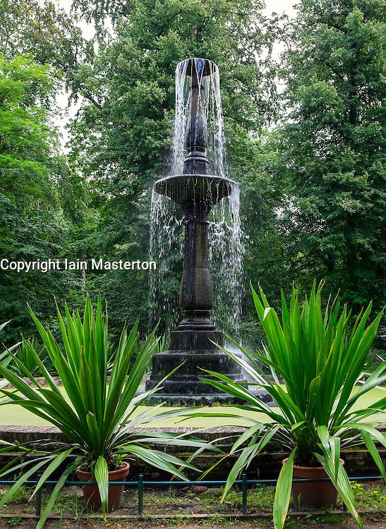 Fountain on Pfaueninsel (Peacock Island) in Berlin Germany