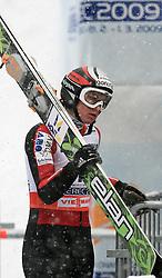 Eva Logar of Slovenia at Ski Jumping ladies Normal Hill Individual of FIS Nordic World Ski Championships Liberec 2008, on February 20, 2009, in Jested, Liberec, Czech Republic. (Photo by Vid Ponikvar / Sportida)