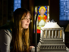 Seven Wonders lego buildings exhibition in Cathedral, Glasgow, 13 July 2018