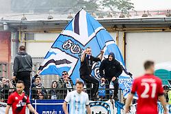 The fans of Nova Gorica during football match between NK CherryBox24 Tabor Sezana and ND Nova Gorica in Qualifications of Prva Liga Telekom Slovenije 2019/20, on May 29, 2019 in Stadion Rajko Stolfa, Sezana, Slovenia. Photo by Matic Klansek Velej / Sportida