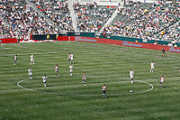 20 May 2007: Wide angle overview of center field with players during a 1-1 tie for MLS Chivas USA vs. Los Angeles Galaxy pro soccer teams at the Home Depot Center in Carson, CA.
