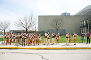 Shadow Armada Indoor Percussion competes at a Winter Guard International (WGI) competition in Dayton, Ohio on April 18, 2013.