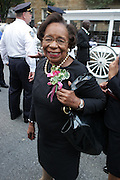 July 24, 2012-New York, NY:  Dr, Marcela Maxwell attends the official Slyvia Woods Harlem Community memorial and send off through the streets of Harlem. Sylvia Woods was an American restaurateur who co-founded the landmark restaurant Sylvia's in Harlem on Lenox Avenue, New York City with her husband, Herbert Woods, in 1962. (Photo by Terrence Jennings)