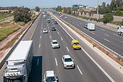 Light traffic on Israel's Highway 6 toll road