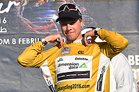 Podium, BOASSON HAGEN Edvald (NOR) Dimension Data, winner, Yellow Leader Jersey, during the 15th Tour of Qatar 2016, Stage 3, Lusail Circuit - Lusail Circuit (11,4Km)/ Time Trial, on February 10, 2016 - Photo Tim de Waele / DPPI