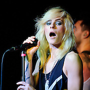 AUSTIN, TX - March 17th: Maja Ivarsson of The Sounds performs at the Mog showcase at The Phoenix as part of the 2011 South by Southwest Festival. (Photo by Kyle Gustafson)