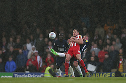 John White of Southend United and Charlie Wyke of Sunderland tussle for the ball - Mandatory by-line: Arron Gent/JMP - 04/05/2019 - FOOTBALL - Roots Hall - Southend-on-Sea, England - Southend United v Sunderland - Sky Bet League One